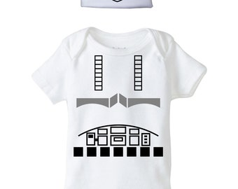 Stormtrooper Baby Onesie and Beanie Design, SVG, DXF, EPS Vector files for use with Cricut or Silhouette Vinyl Cutting Machines