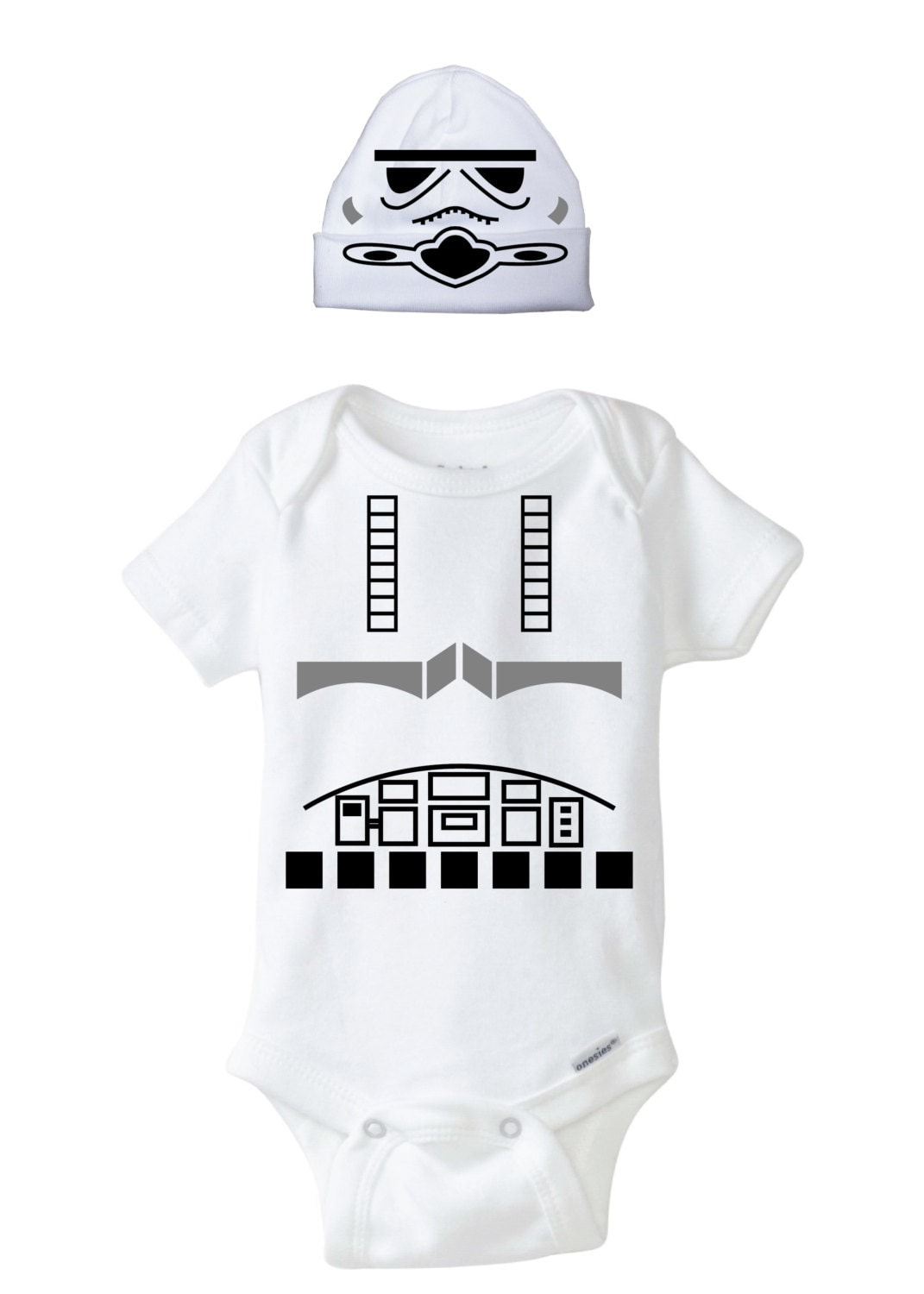 Stormtrooper Baby Onesie and Beanie Design, SVG, DXF, EPS ...