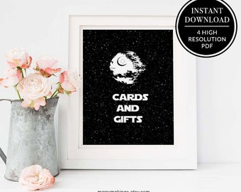 Cards and Gifts, cards and gifts, wedding printable, star wars wedding, 16