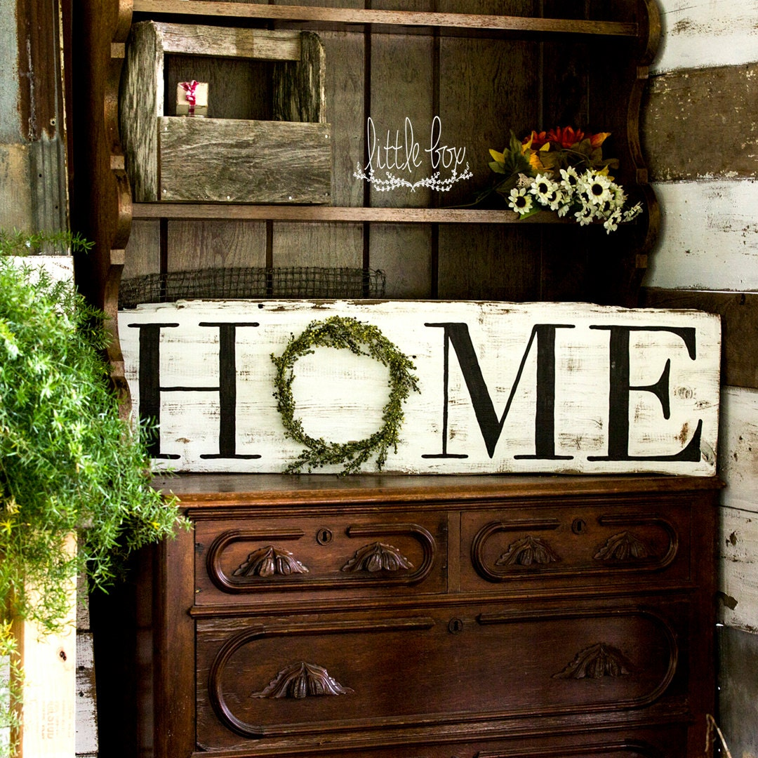 Farmhouse decor rustic home decor home wreath sign home for Home dekoration