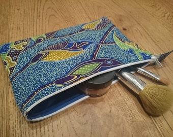 Ankara fabric Make-Up Bag, Cosmetic Bag