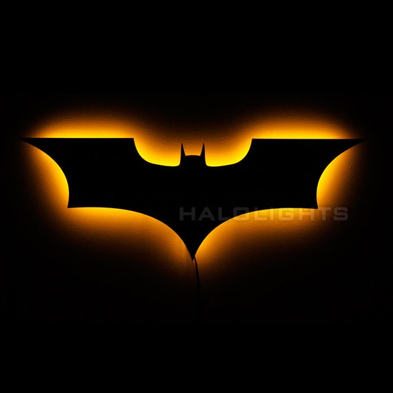 Wall Hanging Night Lights : Batman Night Light Illuminated Batman Wall Hanging by HaloLights