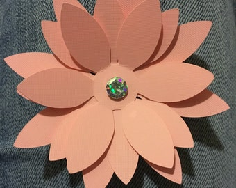 3D Flowers with Embellishments Set of 4