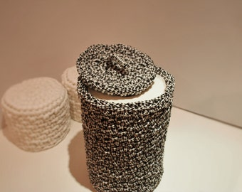 Crochet toilet paper cover and toilet paper storage basket/crochet toiletries basket/housewarming gift