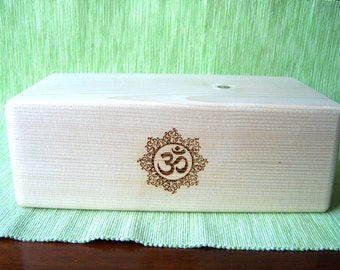 yoga block,yoga brick,handmade wooden yoga block,egraved decor,yoga gift,pine,standard size,solid wood,ecofriendly