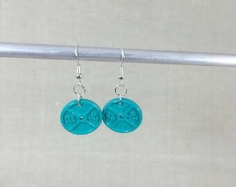 Weightplate dangle earrings