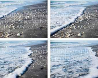 Approaching Surf Photo Print; Shell Photography, Beach Photography, Nature Photography, Beach Art, Shell Print || PHYSICAL PRINT