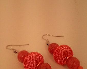 Beaded earrings got for summer vacation