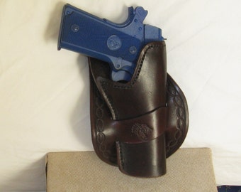 All leather hand stitched holster