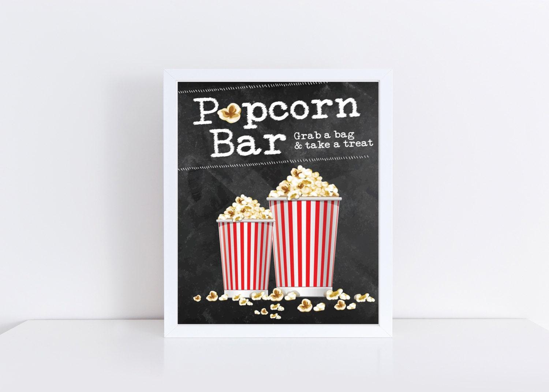 Accomplished image regarding popcorn sign printable
