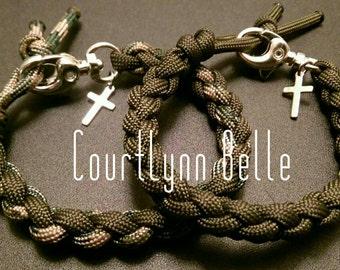 Men's Bracelet Set of 2,Men's Bangle, Survival Bracelet, Men's Paracord Bracelet, Cool and Simple Bracelet (Women's Bracelet)