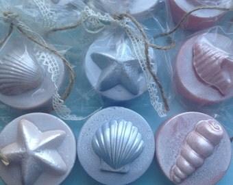1 Dozen Seashell Chocolate Covered Oreos-Bridal Shower-Wedding Favor-Nautical-Beach Wedding Favors-Peach,Gray Blue,Sampagne-Shabby Chic