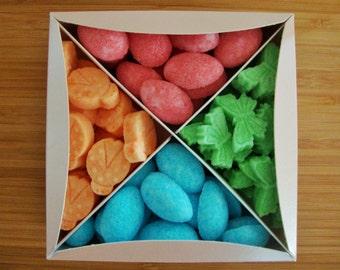 Easter sugar cubes, fantasy sugar cubes, tea party favors, children party favors, butterflies, eggs, ladybug, pastel colours