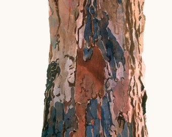 41x122cm Giclee Print of Trees of Life series a Silk Painting on Canvas