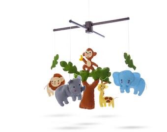 Marmelada Animals Crib Mobile Safari Friends Hand Made Nursery Baby Room Bedtime Night Décor