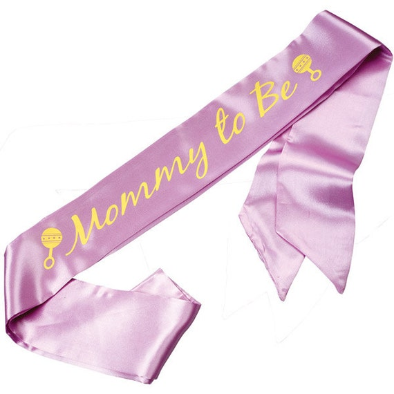 baby shower sashes personalized for birthday party bridal party