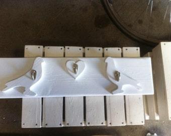 Coat rack with love doves