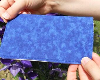 Simple Blue Checkbook Cover