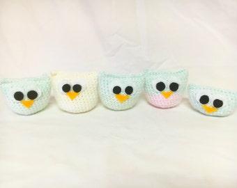 5 Crochet Owl Set