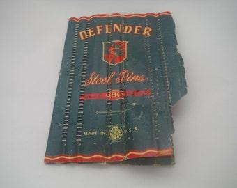 Vintage 1950's Defender  steel pins