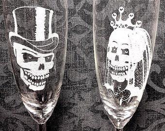 Skull bride and groom