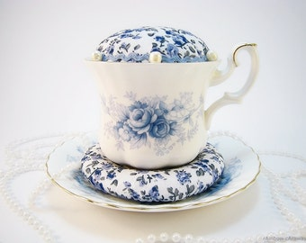 Pin cushion vintage teacup