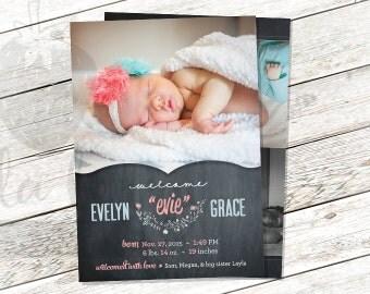 Birth Announcement 5x7 Printable