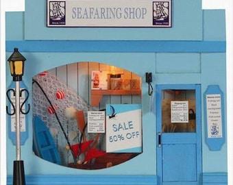 Half inch scale DIY miniature kit: Seafaring Shop/ dollhouse kit/ DIY miniature kit A7