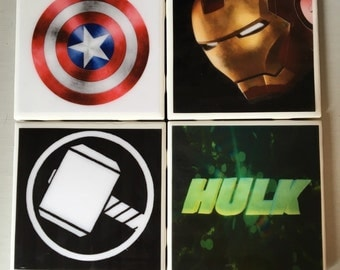 Marvel superhero coaster set