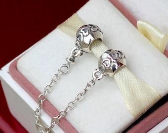 Authentic PANDORA Charm Love Connection SAFETY CHAIN #791088-05