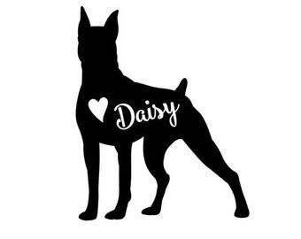 Boxer  Decal // personalized Boxer decal // Boxer car decal // dog decal // personalized Boxer
