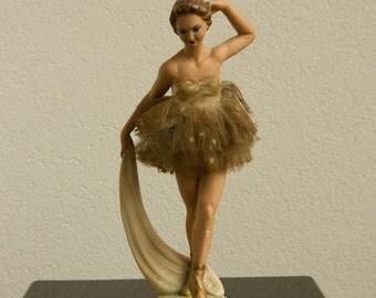 Vintage Figurine Ballerina  S. Melani  178  Plaster