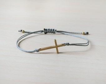 Cross bracelet, gold cross bracelet, bracelet with cross, summer bracelet, boho bracelet, boho style, cross, sideways cross bracelet