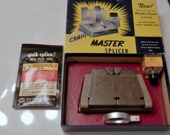 1950s Craig Master Splicer Mo. S-3,  8mm, 16mm, Movie Camera Film Splicer, Movie Editing Equipment, Movie Collections, Sound or Silent