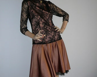 Dress in silk & lace.