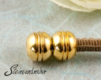 1 x magnetic clasp Ø4mm gold plated art. 925