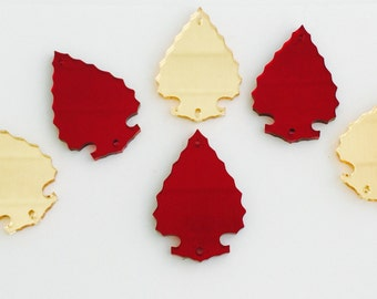 Arrowheads, gold and red