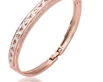 Rose Gold Fox Print Bangle / Bracelet