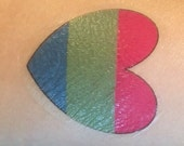 Polysexual Temporary Heart Tattoo