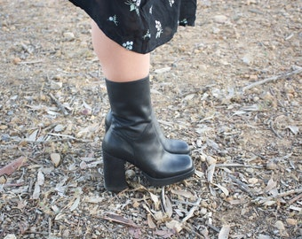 chunky black CANDIES boots heels