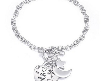 I Love You To The Moon And Back' Charm Bracelet