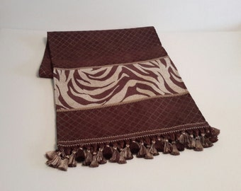 "Brown Table Runner, Elegant Table Runners,  Designer Table Runners, Table Linens - Size 16"" X 72"""