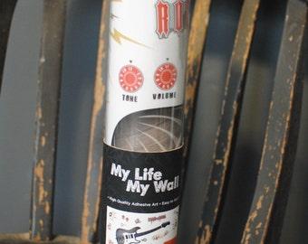 My Life My Wall High Quality Adhesive Art/ ROck N Roll Guitar