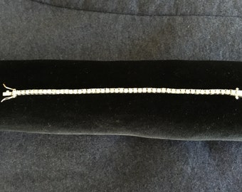 Silver and Rhinestone Tennis Bracelet