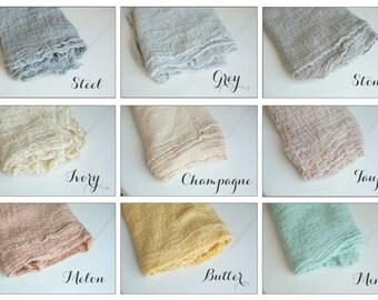 Pick 5 - Newborn Cheesecloth Wraps : Newborn Photo Prop, Newborn Wrap Set