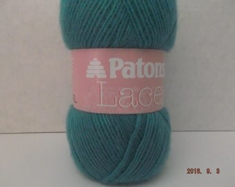 Patons Lace Yarn ~ Mystic Teal ~ 3 ounces/85 Grams ~ 498 Yards/455 Meters ~ #2 Fine (knitting)