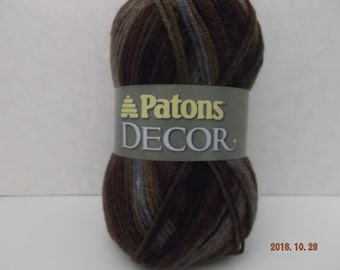 Patons Decor Yarn ~ Wool Blend ~ Tapestry - Variegated ~ #4 Medium ~ 3.5 oz ~ 208 Yards