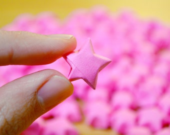 100 Origami Stars - [Pink Paper]