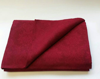 Red Linen tablecloth -  Jacquard Linen tablecloth -  Organic Tablecloth - Table Linens - Royal Dinner tablecloth - Gift of Love