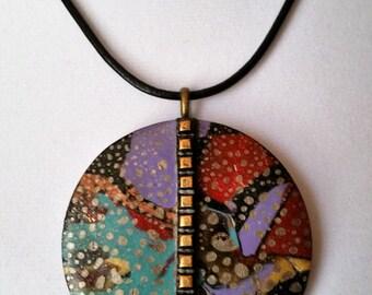 Colorful Splashes Pendant I Necklace